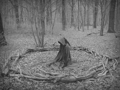 #black and white #magick #women #forest