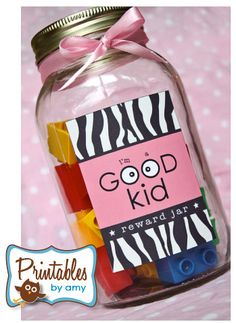 Kid reward jars - positive reinforcement!