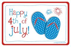 Happy 4th of July Free Printable by Amy at LivingLocurto.com