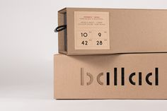 Ballad / Emballage by Catherine Plouffe  #Behance #packaging #design
