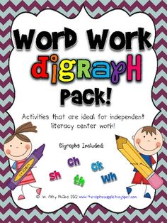 Bought it on TPT - great resource for digraphs included: ch, th, sh, ck, wh
