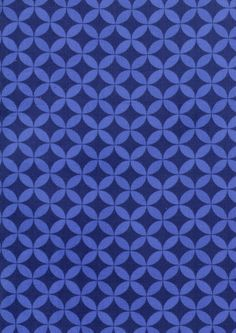 new Happy Together corduroy fabric - interlocking rings in blue