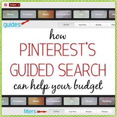 How Pinterest can help your budget!