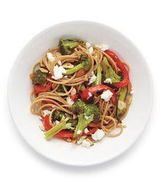 Spaghetti With Feta and Broccoli Recipe from realsimple.com. #myplate #veggies #wholegrain