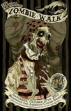 Zombie Walk art poster