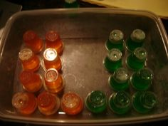 Eye on Tailgating: Orange and Green Jello Shots | Eye of the Hurricane