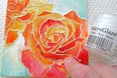 Elmer's glue watercolor painting