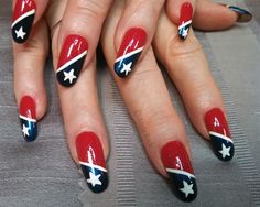 4th of July Stars by aliciarock from Nail Art Gallery