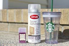 Pink Glitter Starbucks Cup DIY