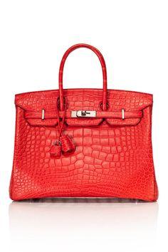 Hermes birkin red