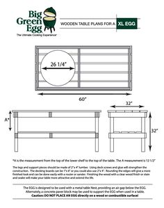 diy bbq big green egg table more green eggs grilled tables green eggs ...