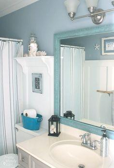 Boy's Bathroom Refresh {#LowesCreator Project} - Pretty Handy Girl