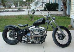 Early nineties Harley Hardtail.  Saint Augustine, Florida