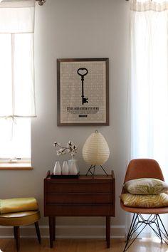 chair, vignett, key print