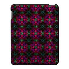 ipad Case - Fractal Pattern pink green purple red $56.20