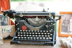 Vintage typewriter for guestbook