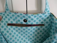 great tutorial for zipper pocket and snap