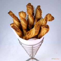 Hot and Spicy Cheese Twists by Clinton Kelly! #TheChew #Snacks