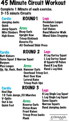 45 Minute Circuit Workout. Cardio. Arms. Legs. — FITSOUFFLE