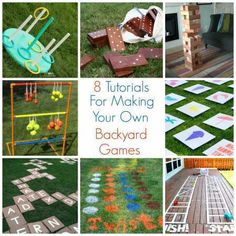 8 Tutorials For Making Your Own Backyard Games