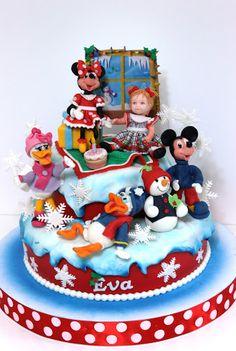 viorica's cakes: Mickey & coomp iarna