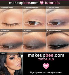 Step-By-Step Tutorial for Chocolat chaud smokey eyes
