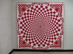 Quiltrascal: Red and White 1910 Vortex Quilt, Part one