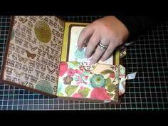Altered Manilla file folder mini book