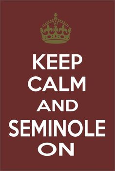 Keep Calm and Seminole On Florida State Seminoles by StickerTiger, $2.99
