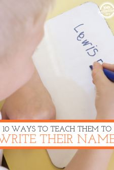Lots of activities to help kids learn to write and recognize their name