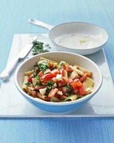Rigatoni with Tomatoes and Mozzarella Recipe