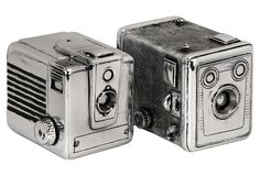 S/2 Vintage Camera Boxes
