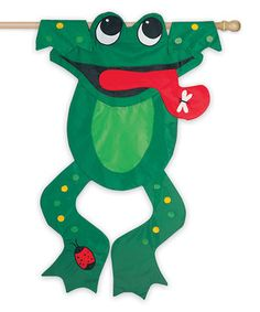 Bedazzled Frog Outdoor Flag by Evergreen #zulily #zulilyfinds