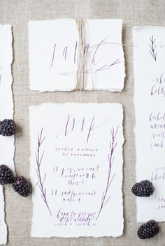 Blackberry inspiration calligraphy from Written Word Calligraphy by Christie Graham Photography-via Wedding Sparrow http://weddingsparrow.com