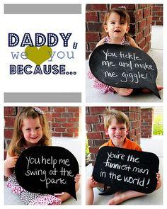 Father's Day. cute idea
