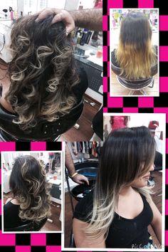 Correção de cor e ombre hair