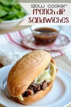 Slow Cooker Freezer Friendly French Dip Sandwiches