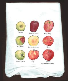 Fruit and Vegetable Flour sack towels