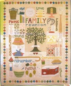 Family Reunion Applique Quilt Pattern from Bee In by Pipersgirls