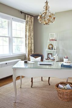 francophile wall colors, office spaces, office desks, office designs, the office, french homes, offic space, office workspace, home offices