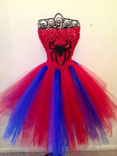 Oh holy crap! For the flower girl in the appropriate heroine! Girls 2T5 SpiderMan tutu dress by LisasTutus on Etsy, $25.00