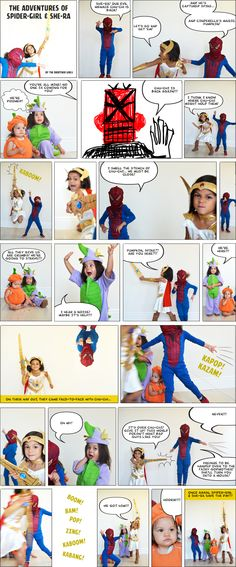 Teaching the elements of a story through home-made photo comic strip