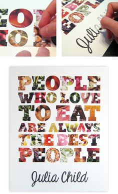 kitchen quote art DIY (with template)