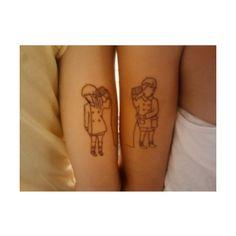 best friend tattoos   Tumblr found on Polyvore
