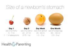 Preparing for Breastfeeding: How much milk will my newborn need? - Health & Parenting