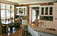 wall colors, color palettes, charms, breakfast nooks, southern charm, paint, hous, desk areas, open kitchens
