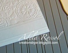 Partial Embossing with Cuttlebug Tutorial