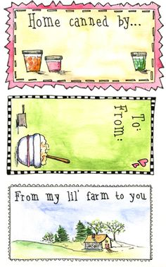 Printables- Homemade Gift Labels, Recipe Cards, Homemade Seed Packets, etc