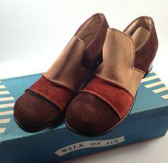 1970s Vintage TRIColor Genuine SUEDE Shoes by rememberwhenemporium, $29.95
