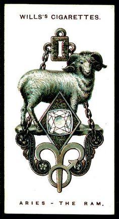 Cigarette Card - Aries, The Ram by cigcardpix, via Flickr